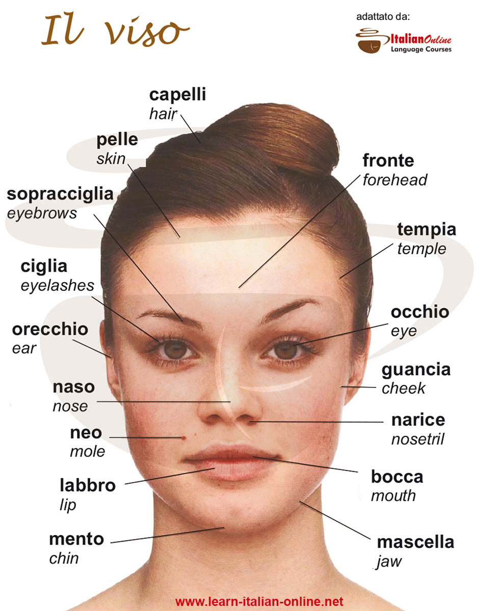 Face italian words
